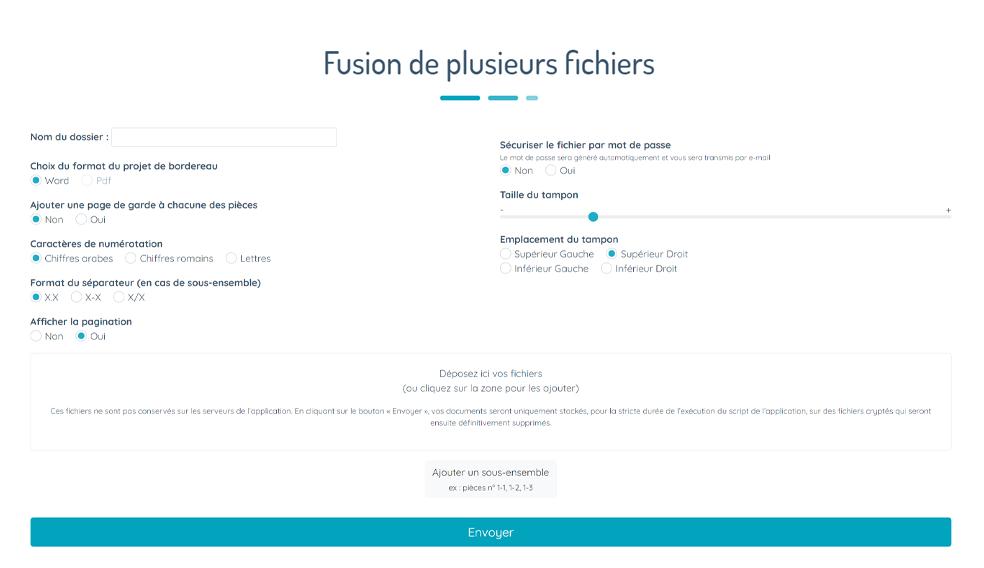 Fusion de fichiers, gestion de dossier pour avocats